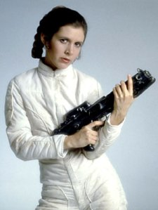 she got to shoot a laser gun AND make out with han solo. jealous.