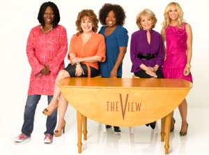 """slapping fight with whoopi on the set of the view"""