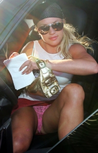 oh you saw a britney crotch shot? WHO CARES.. THEY HAVE FLYING CARS!