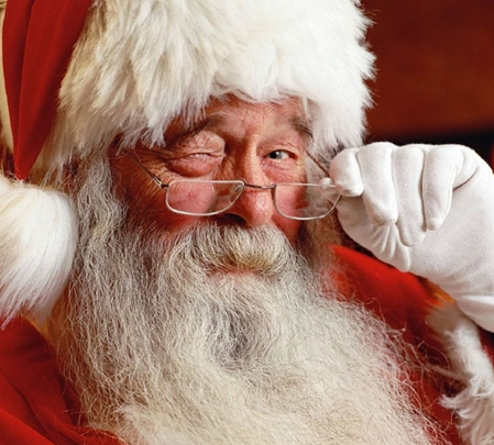 """""""Ana. I only want you asking me for presents, not this Santa Claus asshole"""""""